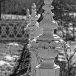 exterior details, fence, Jail Hill Inn Galena Illinois