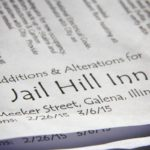 Blueprints for additions and renovations at Jail Hill Inn, Galena, Illinois