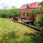 Rear yard and deck at Jail Hill Inn, Galena, Illinois