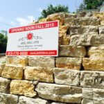 New temporary sign for Jail Hill Inn