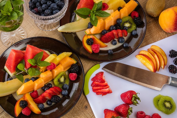 Summer Fruit platter, Jail Hill Inn, Galena, Illinois