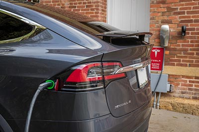 Tesla Charging Station, Jail Hill Inn, Galena, Illinois