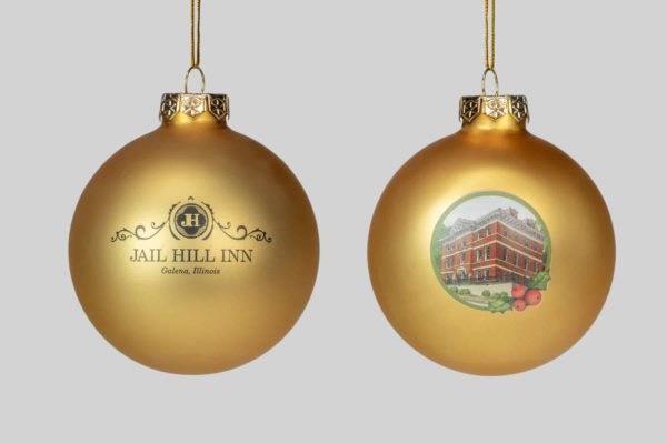 Jail Hill, Galena, Illinois, Round Christmas Holiday Ornament