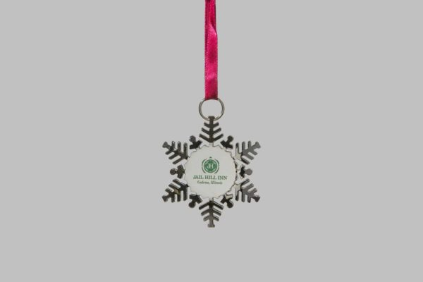 Jail Hill Silver Holiday Ornament