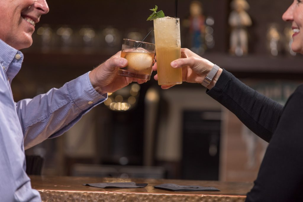 Enjoy a craft cocktail at Blaum Bros Distilling in downtown Galena IL